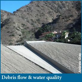 Debris flow and water quality